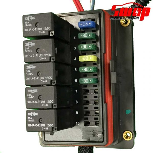 eco tech harness fusebox 600x600 ls 24x standalone harness swap specialties Wiring Specialties SR20DET at metegol.co