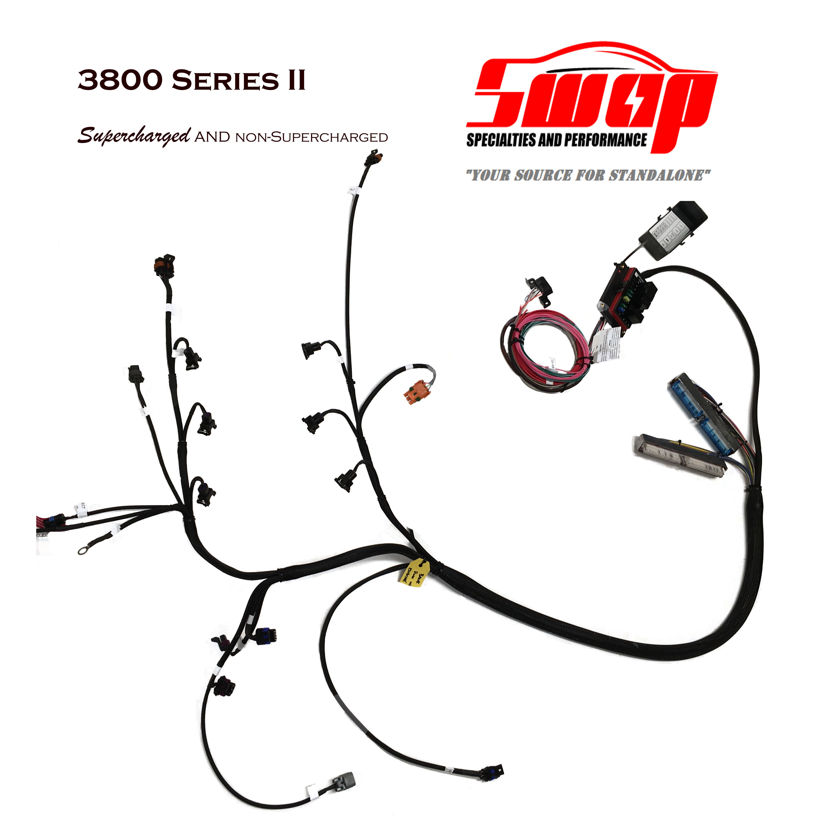 custom wiring harness for s10 3800 standalone harness     swap specialties  3800 standalone harness     swap specialties